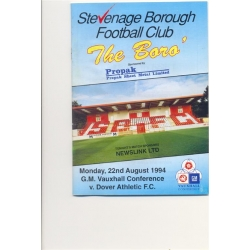 Boro Programmes from 'The Conference Years'