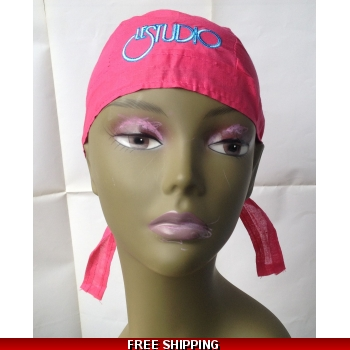 Hot Pink Bandana Hat Wh..