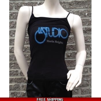 Woman Black Tank Top Si..