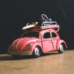 Retro Red Volkswagen Beetle