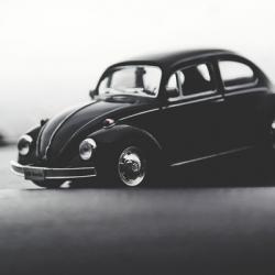 Retro Black Volkswagen Beetle