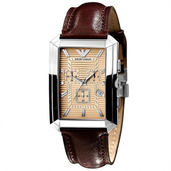 rectangular armani watch