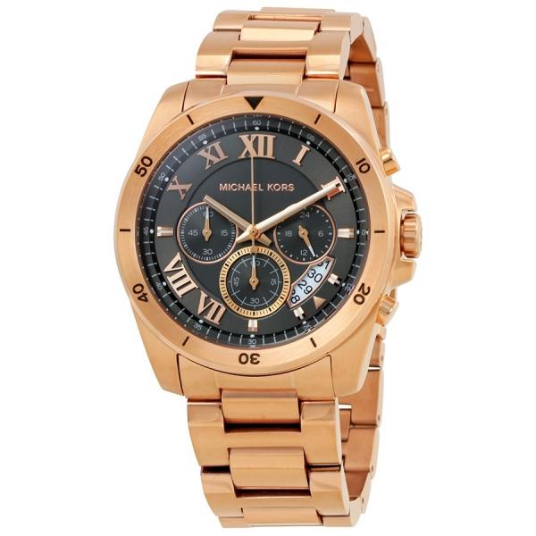 Michael Kors MK8563 Brecken Grey Dial Men's Rose Gold Watch