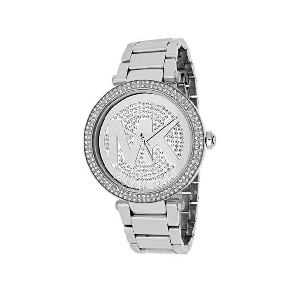 Michael Kors MK5925 Parker Silver Crystal Pave Dial Ladies Watch