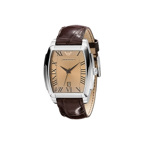 new lower prices online store catch Emporio Armani Watch AR0934 Brown Leather Strap