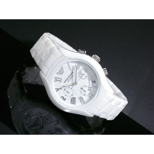 Neu werden Shop für neueste Sonderangebot Emporio Armani AR1404 Ladies White Ceramic Round White Dial Watch