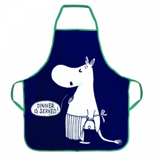 Moomin Apron in Tin, Adult or Child Size