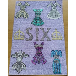 Six The Musical Lettering Print