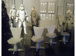CHAIRS 4-PACK, 1:18 SCALE AVAILABLE.
