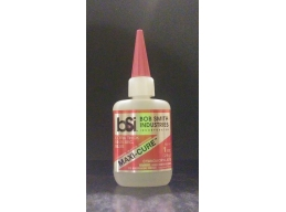 Maxi-cure (by BSI) Thick adhesive for model building.