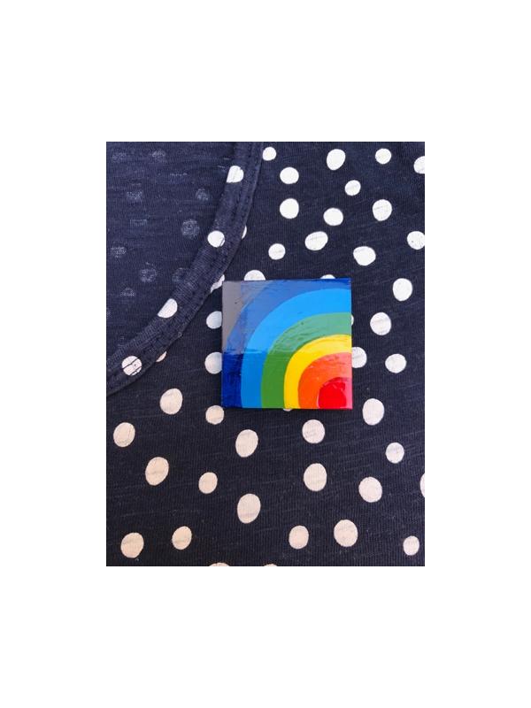 Rainbow brooch