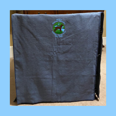 Crate Cover Embroidered with River Logo