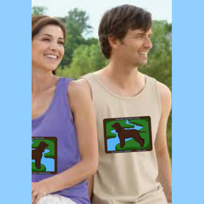 Unisex Comfort Colors Tank with Large River Logo
