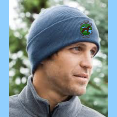 Knit Hat Embroidered with River Logo