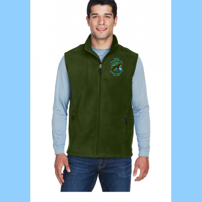 Mens Fleece Vest Embroidered with Small River Logo