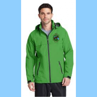 Mens Waterproof Jacket Embroidered with Small River Logo