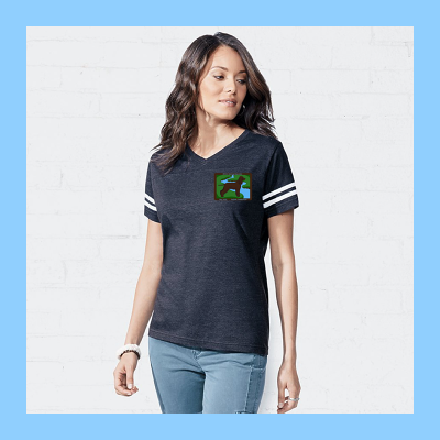 Ladies Football T-Shirt with Small River Logo