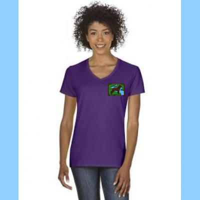 Ladies V-Neck with Small River Logo