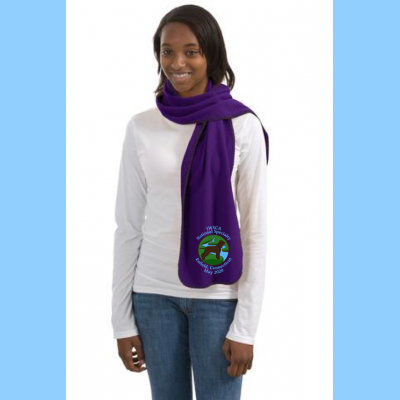 Fleece Scarf Embroidered with River Logo