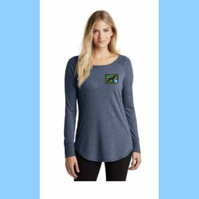 Long-Sleeve Tunic Tee with Small River Logo