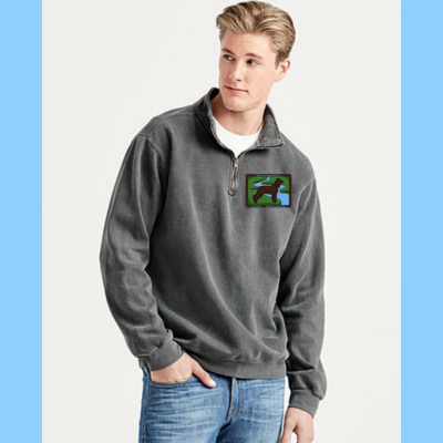 Comfort Colors Quarter-Zip with Small River Logo
