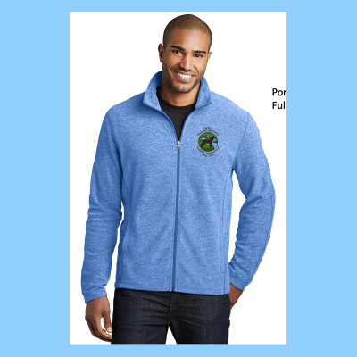Mens Full-Zip Microfleece Embroidered  with Small River Logo