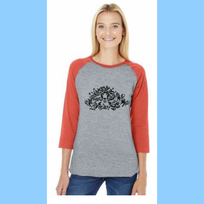 Ladies Baseball Shirt with Lobstah Splash Logo