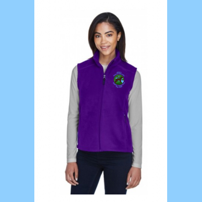 Ladies Fleece Vest Embroidered with Small River Logo
