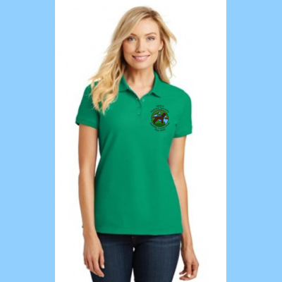 Pique Polo Ladies Embroidered with Small River Logo