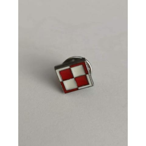 Chequer board pin badge