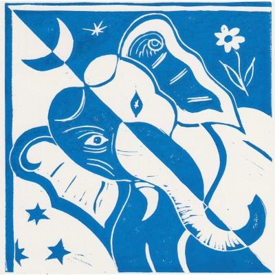 Lord Ganesha blue