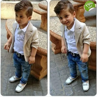 Casual Jackets+Shirt+Jeans For Baby Boys