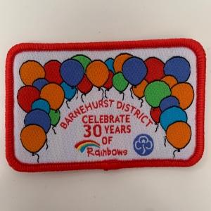 Rainbows 30th Badge
