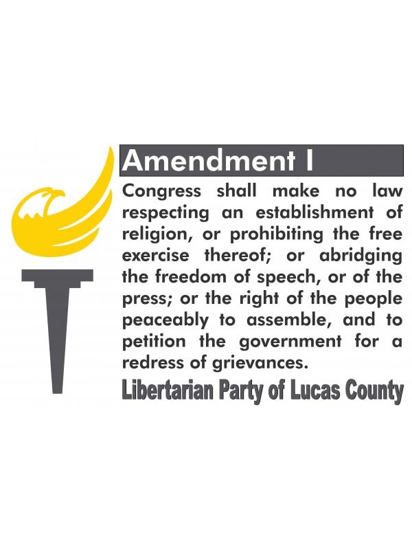 First Amendment Sign