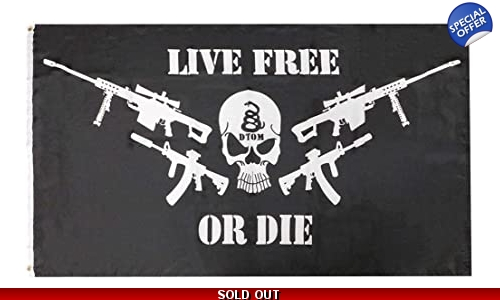 Don/'t Tread On Me Live Free Or Die 100D Woven Poly Nylon 2-Sided 3x5 3/'x5/' Flag
