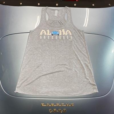 Racerback Tank - Aloha - Grey/Blue Speedster