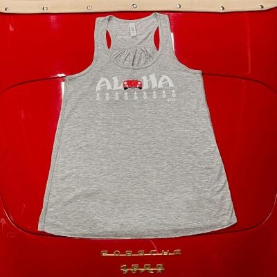 Racerback Tank - Aloha - Grey/Red Speedster