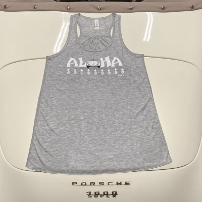 Racerback Tank - Aloha - Grey/White Speedster