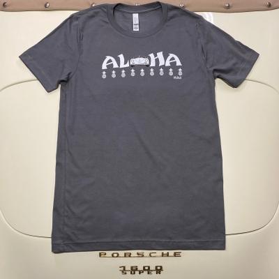 Unisex Tee - Aloha - Asphalt/White Speedster