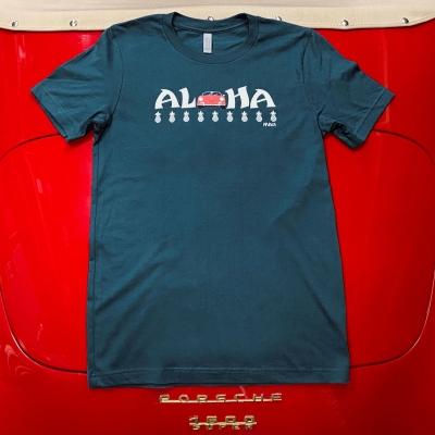 Unisex Tee - Aloha - Deep Teal/Red Speedster