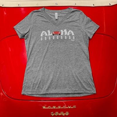 V-Neck - Aloha - Grey/Red Speedster