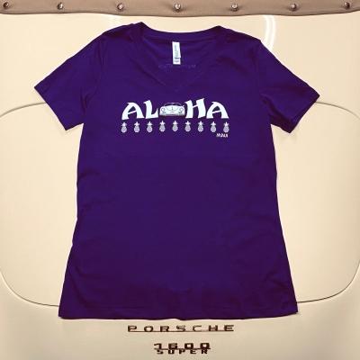 V-Neck - Aloha - Purple/White Speedster