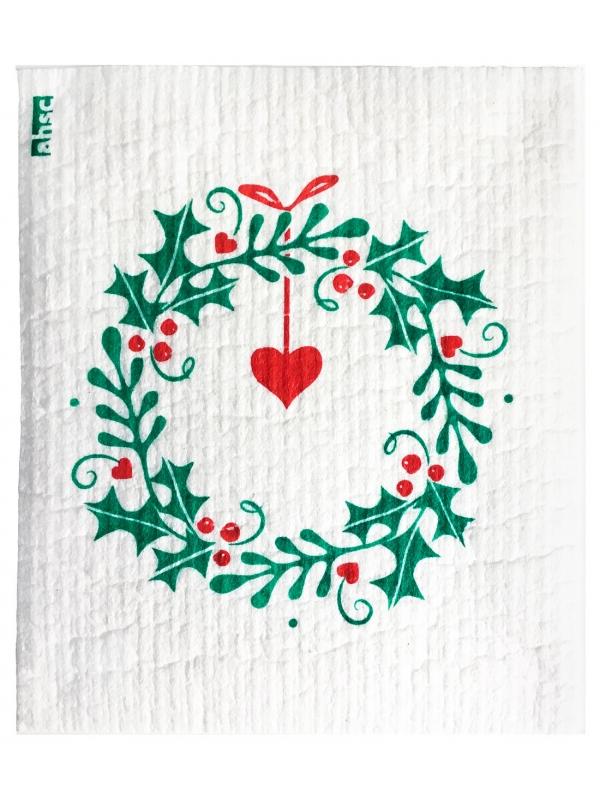 Christmas Wreath Dishcloth