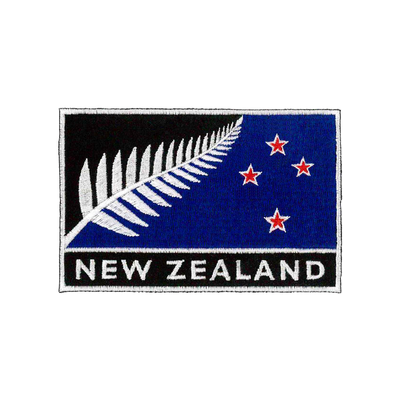 d | SILVER FERN FLAG PATCH