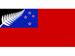 H | RED SILVER FERN FLAG