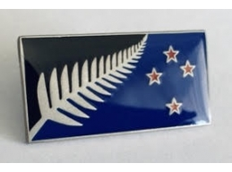 E | SILVER FERN FLAG PIN