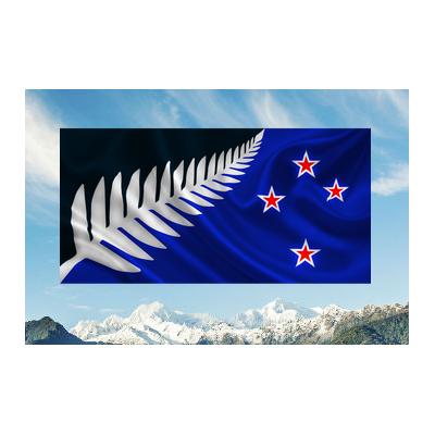 a | LARGE PREMIUM SILVER FERN FLAG (AUTOGRAPHED)
