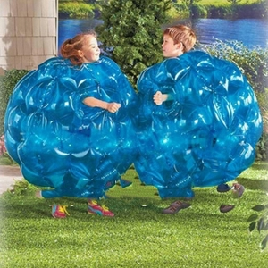 36'' Dia Blue Buddy Bumper Ball Inflatable Bubble Soccer Kid Adults Outdoor Play Toys