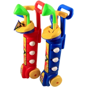 Kidplokio Toddler Indoor Toy Golf Caddy Set, Irons, Balls, Flag Ages 3 to 8