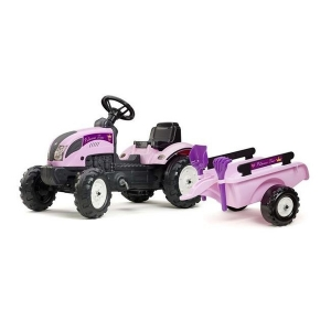 Falk FA2056C Princess Pink Pedal Tractor with Trailer, Showel & Rake, Pink - 2 to 5 Years